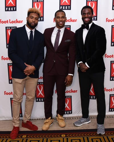 Odell Beckham Jr., Victor Cruz and Prince Amukamara lend support at Foot Locker's On Our Feet gala.