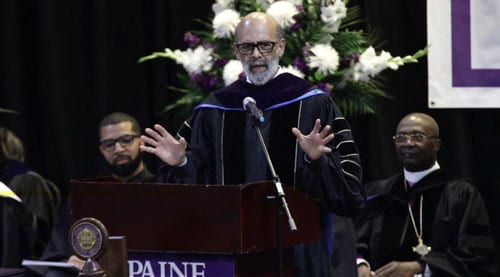 UNCF President and CEO, Dr. Michael L. Lomax speaks at Paine College